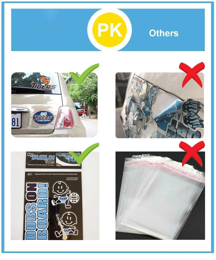 Die Cut PVC sticker sheet Vinyl printing custom