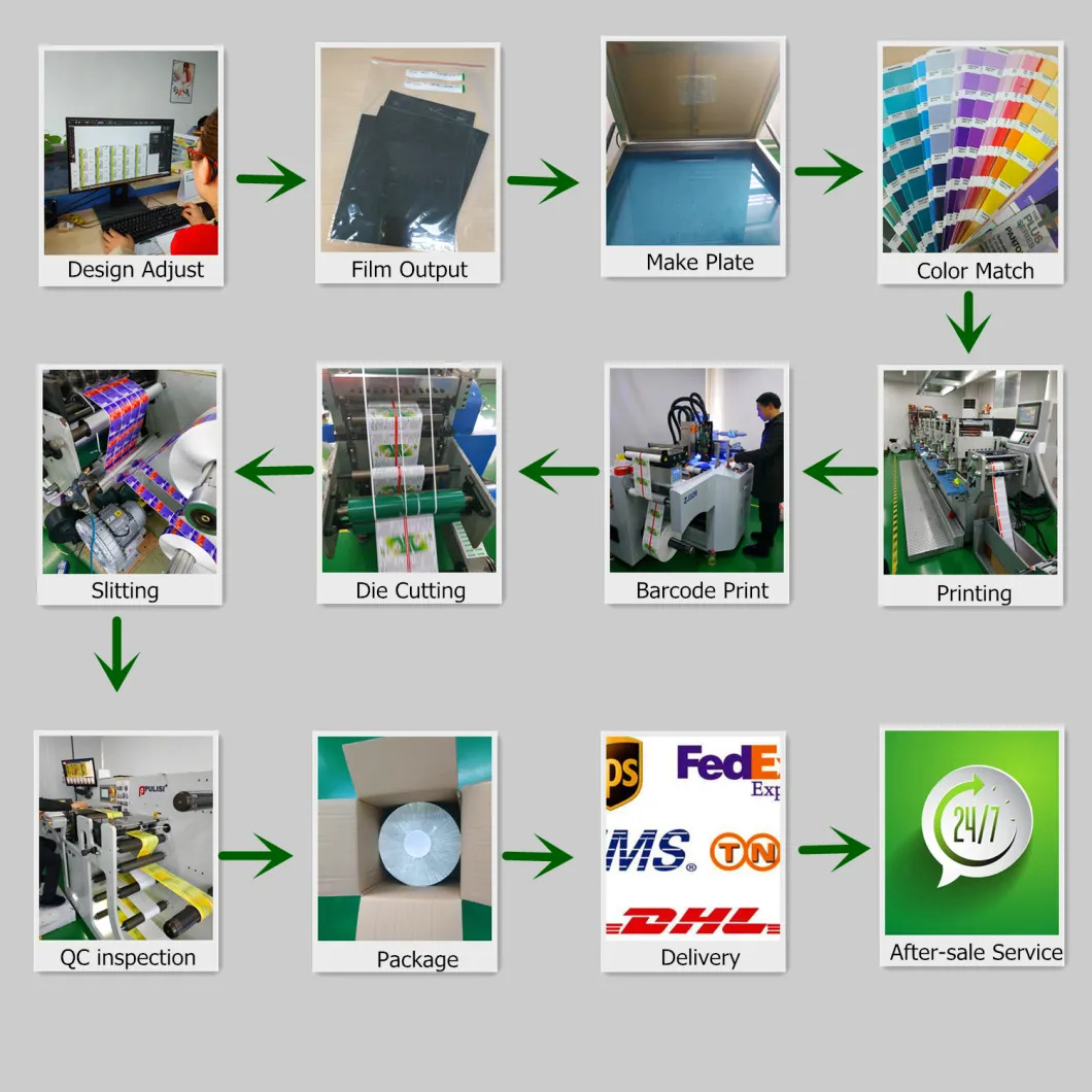 Qr Code and Serial Number Printing Adhesive Hologram Foiled Stickers Label